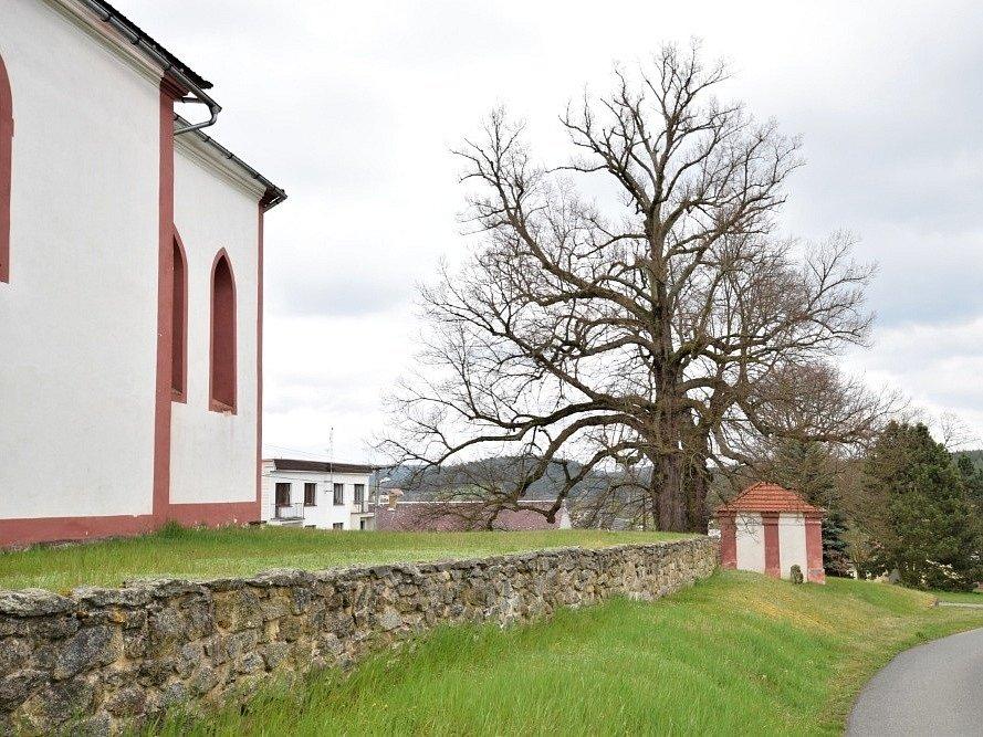 U kostela sv. Mikuláše v Prostiboři.
