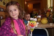 PODZIMNÍ VÝSTAVU si užívali nejen dospělí návštěvníci, ale především děti. Nejvíce si oblíbily vyrobené papírové dráčky.