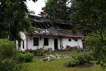 V Broumově na Tachovsku hořela chata, předběžná škoda je milion a půl