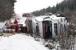 Ilustrační foto. Kamionář havaroval i nedaleko hraničního přechodu Rozvadov na 148. kilometru dálnice D5.