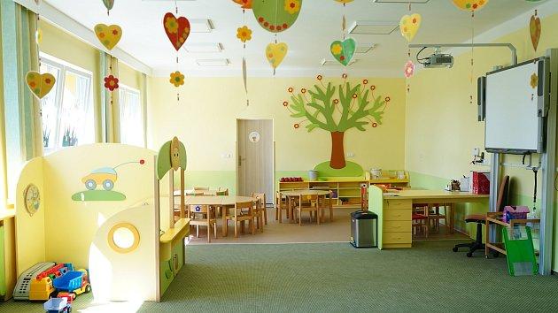 Zrekonstruované prostory Mateřské školy v Rozvadově.
