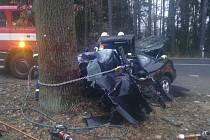 Nedělní nehoda u Kadrnožky.