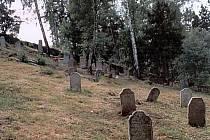 Nakloněné náhrobní kameny na židovské hřbitově v Řebří se letos dočkají opravy.