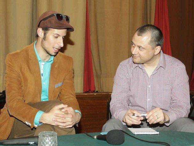 Režisér Petr Smazal přijel do stříbrského kina představit svůj horor.