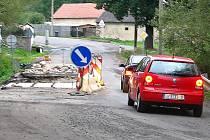 Oprava mostu v Boněticích.