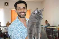 Libor Šula na výstavě koček v Chodové Plané