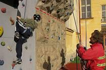 Horolezčata zkoušejí odvahu