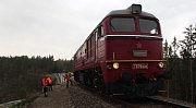 Podívejte se na zatěžkávací zkoušku Pňovanského mostu z pohledu strojvedoucího, který na most najel s první lokomotivou Sergej.