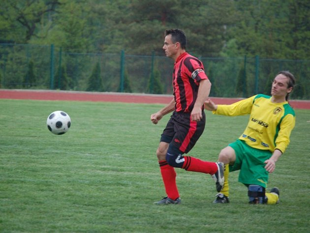 Fotbalové utkání Stříbro B – Lesná 1:2