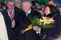Prezident ČR Václav Klaus v Tachově.