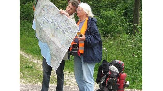 Hana Ulrichová při své cestě do Santiaga de Compostela.