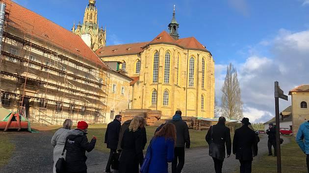 Z návštěvy ministra kultury v Kladrubech.