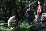 Zříceninu hradu Volfštejn si vybrali filmaři natáčející dokumenty o téměř zaniklých hradech.