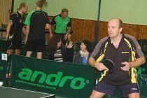 Hrálo se další dvojkolo druhé ligy mužů ve stolním tenisu.