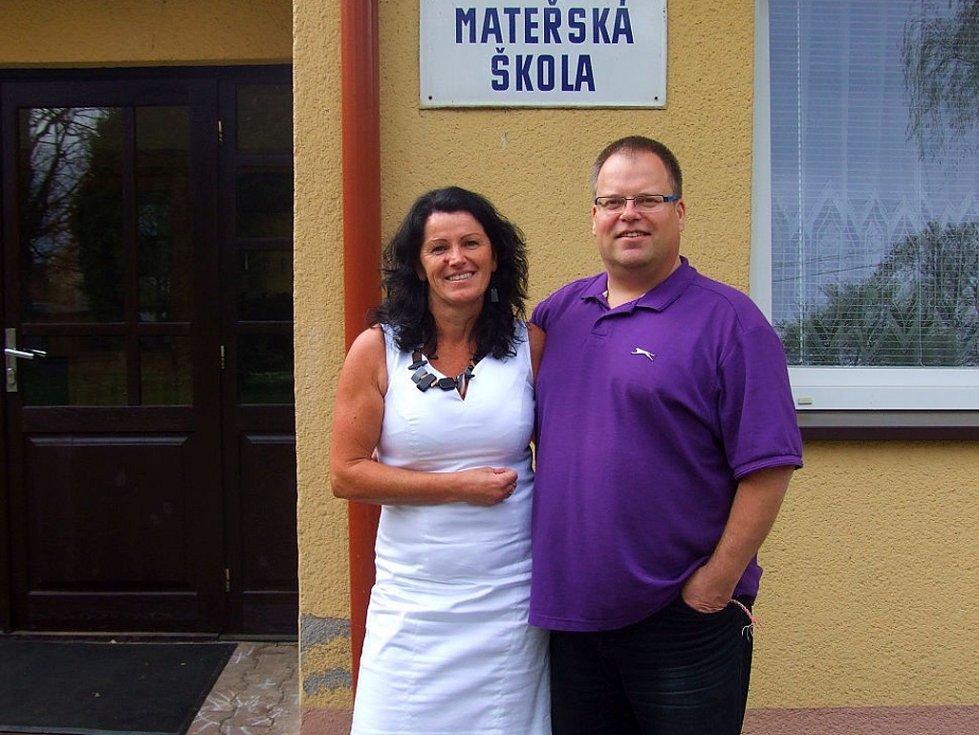 VEDOUCÍ UČITELKA mateřské školy Dana Müllerová a ředitelem Janem Ambrožem tvoří skvělý tým.