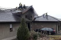 V Racově hořel rodinný dům. F