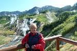 Mirka Blažková z Ústí nad Labem v Údolí gejzírů na sibiřském poloostrově Kamčatka.