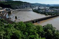 Velká voda v Ústí, středa 5. června 2013.
