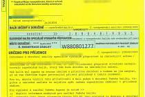 Údajná přepravní firma v dopise slibuje doručení zapečetěného balíku.