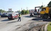 Začaly práce na stavbě kruhového objezdu v Přestanově.