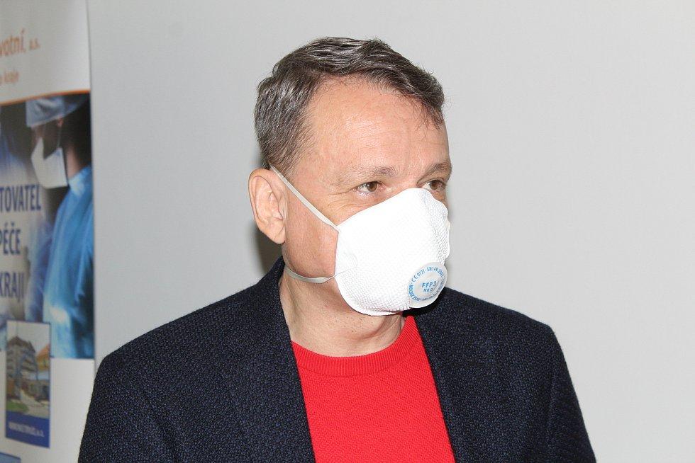 Generální ředitel Krajské zdravotní Aleš Chodacki.