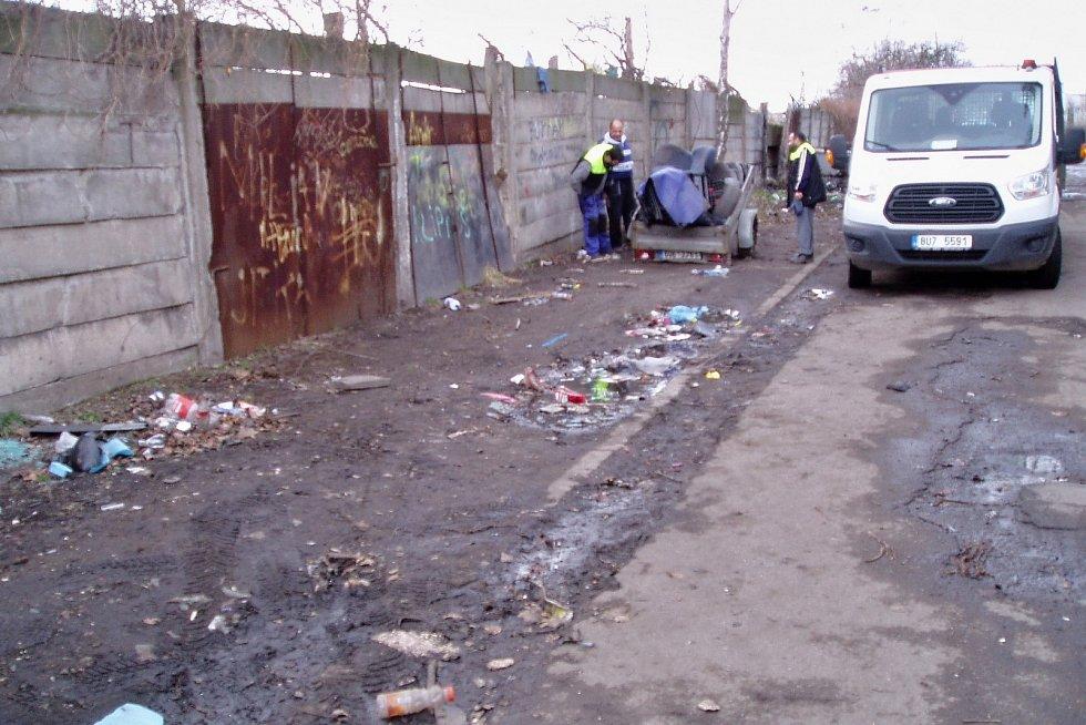 Sklářská ulice po úklidu