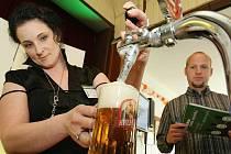 Eva Renková z Ústí nad Labem. Profesionálové z restaurací v celé republice změřili své síly v soutěži Hvězda výčepu.