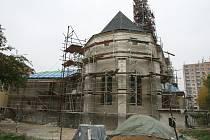 Rekonstrukce zdevastovaného kostela sv. Floriána v Krásném Březně