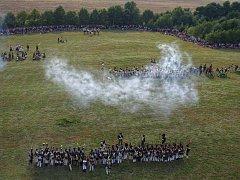 Fotografie bitvy u Chlumce ze 6ti vrtulového, dálkově ovládaného modelu.
