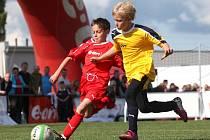 Na E.ON Junior Cupu se bojuje nejen o ceny a zážitky, ale také o každý metr hřiště.