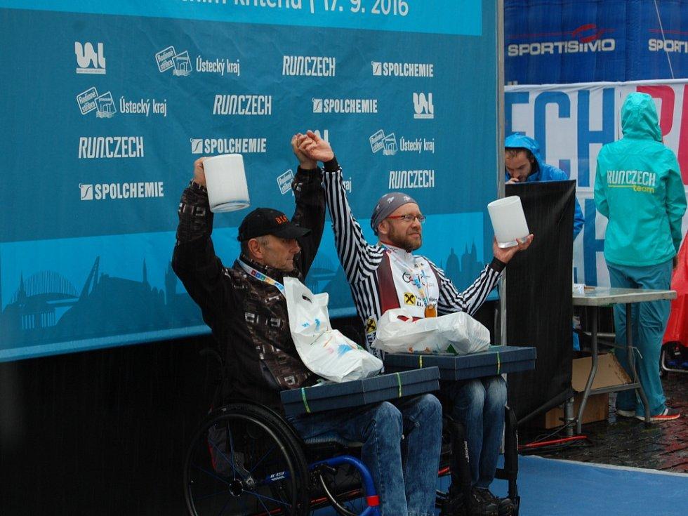 Ústecký půlmaraton 2016, vyhlášení závodu handbike.