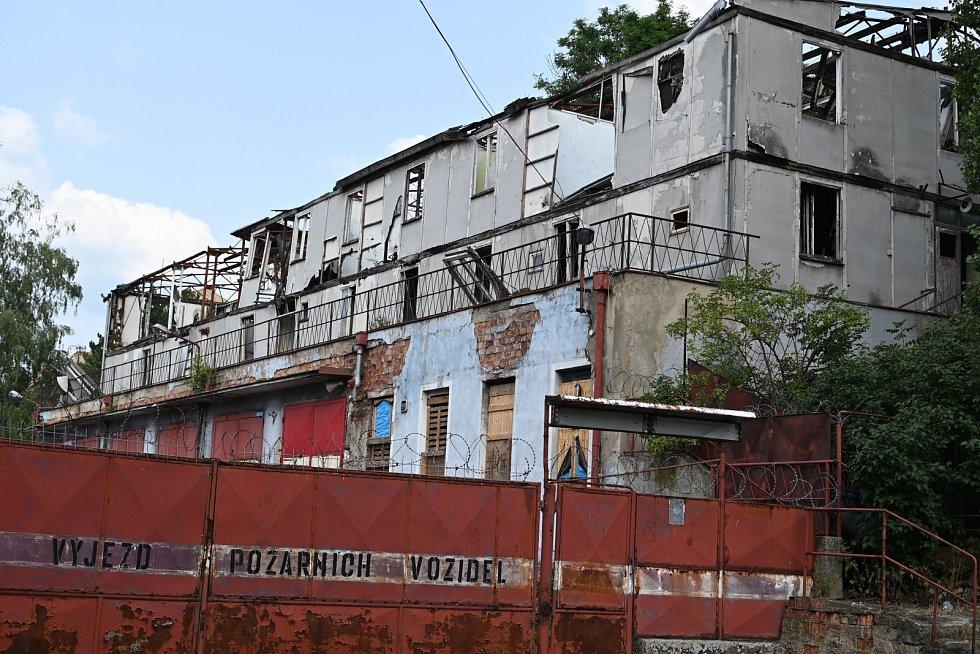 Ulice Bratří Mrštíků ve Střekově.