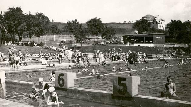 Ústecké koupaliště Klíše ve 30. letech