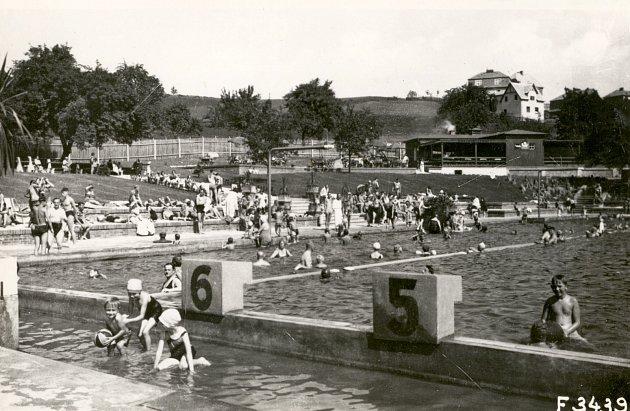 Ústecké koupaliště Klíše ve 30.letech