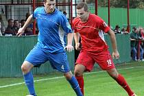Fotbalisté Střekova (červení) doma porazili Jílové 2:1.