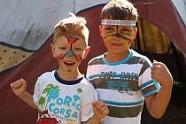 Děti si užily pobyt v indiánské vesničce Rosehill v Růžové u Děčína.