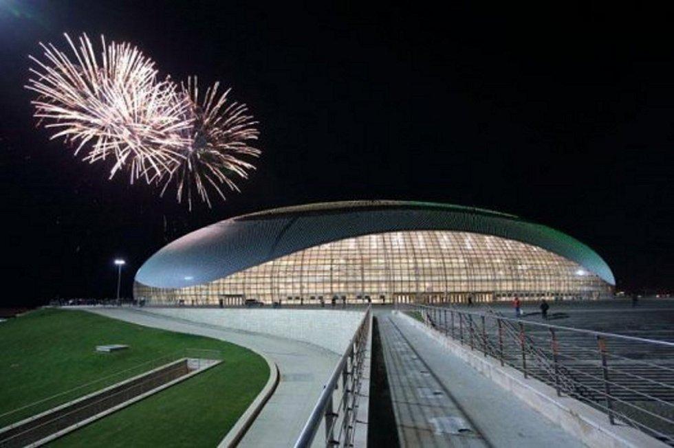 Konečná podoba olympijského stadionu v Soči.