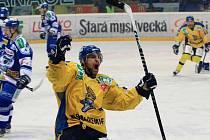 Z hokejového utkání Ústeční Lvi versus Kometa Brno...