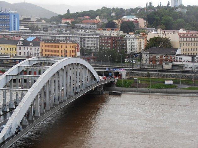 Stav Labe kolem pondělní deváté hodiny v Ústí nad Labem