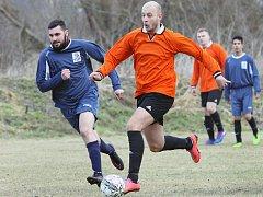 Fotbalové utkání Svádov (v oranžovém) - Horní Podluží v 1. B třídě