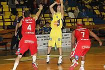 Nymburk to neměl lehké, potěšilo kouče basketbalistů Ústí Bednáře.
