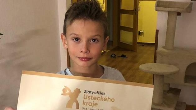 Matyáš Buzek ze ZŠ Velké Březno postoupil dál v soutěži Zlatý oříšek