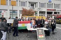 Za Rojavu se demonstrovalo i v Ústí.