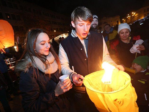 Šestý ročník akce Rozsviťme Ústí nad Labem.