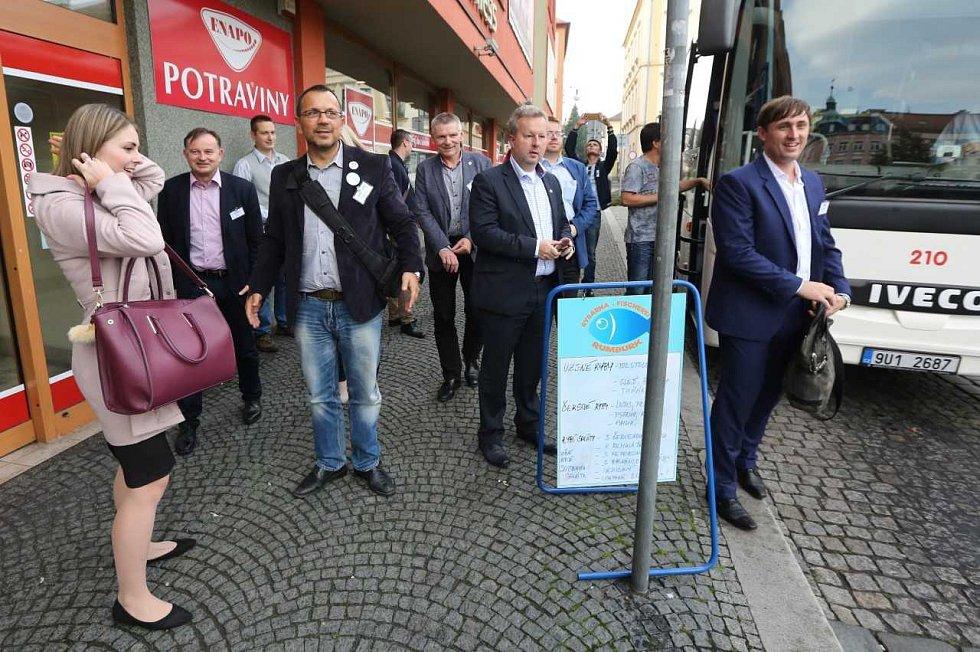 Projekt Deník-bus v Rumburku.