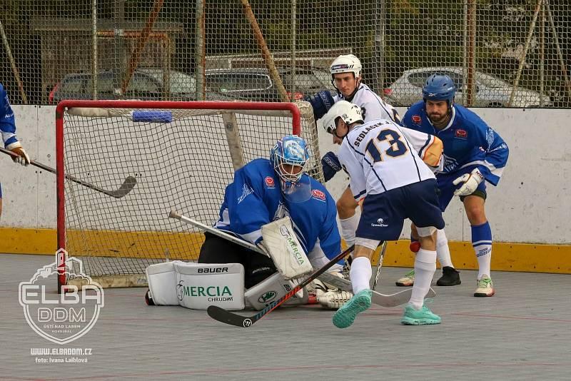 Elba DDM Ústí - Pardubice, hokejbal extraliga 2021/2022.