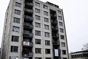 Ubytovna v ulici Čelakovského.