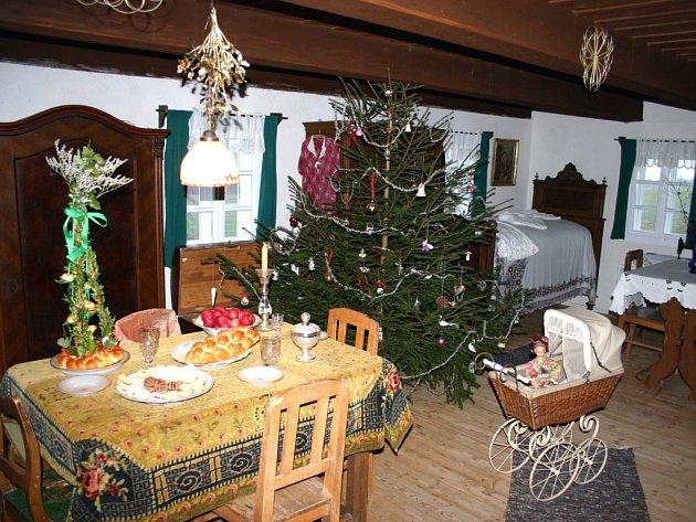 Vánoční interiér.