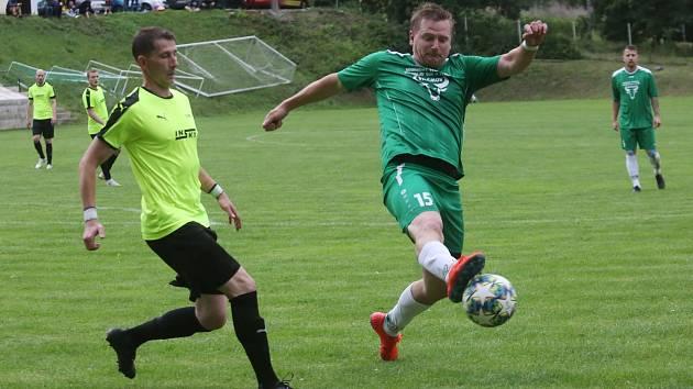 Brná (zelenočerní) - Vilémov, finále krajského poháru fotbalistů