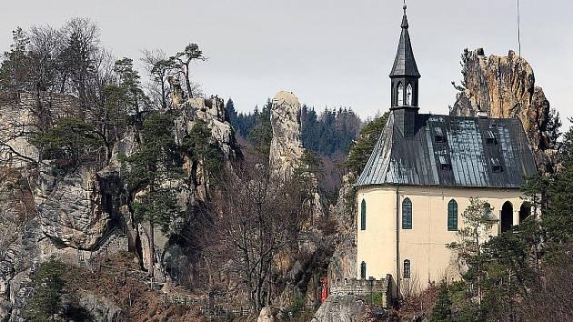 Skalní hrad Vranov.